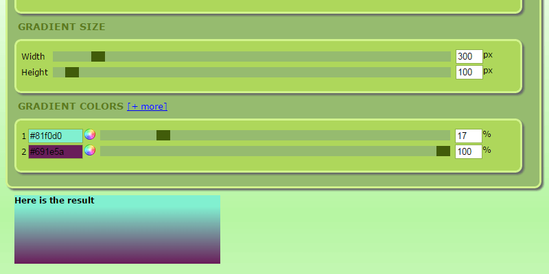 GradColor: CSS3 Gradient Generator   Bypeople