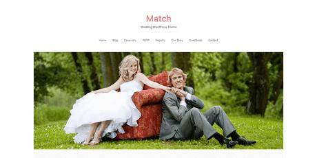 match lite wedding wordpress theme