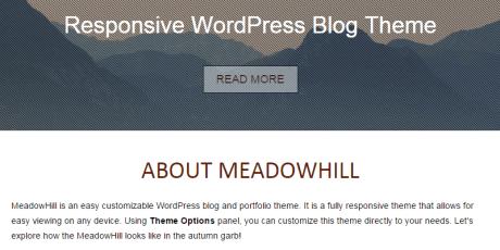 meadowhill wordpress theme