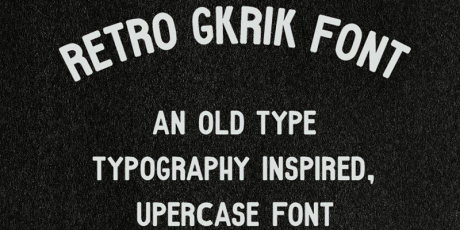old style typeface retro sans