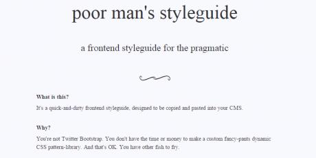 online frontend styleguide