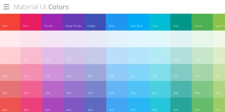 online material ui colors selector