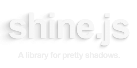 shadow shine effects javascript library