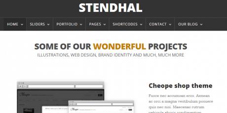 stendhal clean portfolio theme