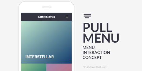 stretchable css interaction menu