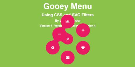 css svg material design gooey menu
