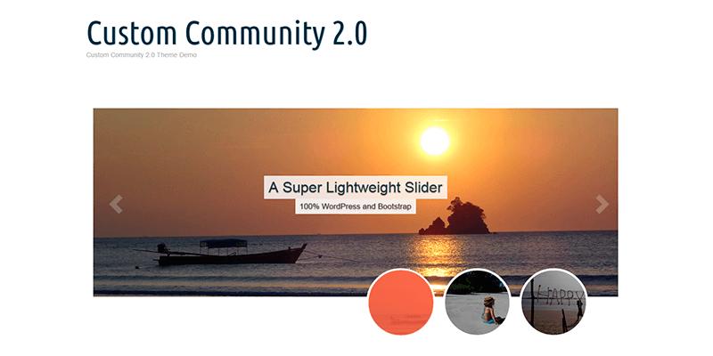 Custom Community 2.0: Retina-ready WordPress Theme | Bypeople
