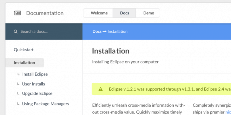 eclipse documentation psd template