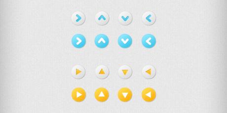 editable psd arrow buttons