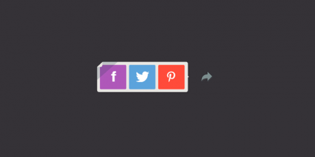 flat styled psd share buttons