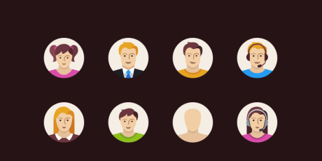 free sketch characters icon set
