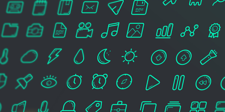 free sketch outlined icon set