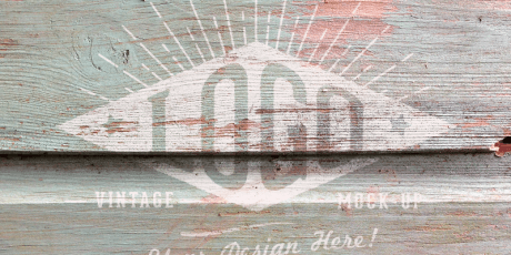 free wooden textured logo mockups