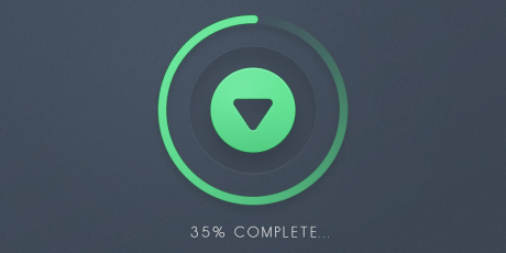 glowing psd download button