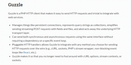 guzzle php http client and framework for restful
