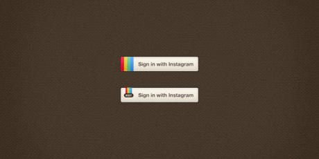 instagram sign in psd buttons