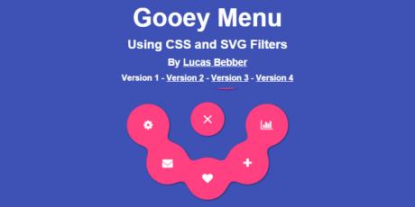 material design css gooey menu