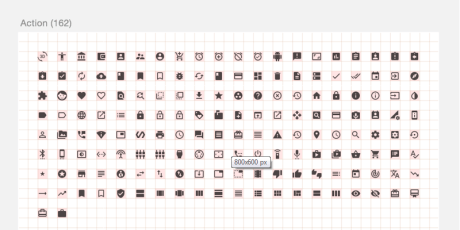 material design sketch icon set