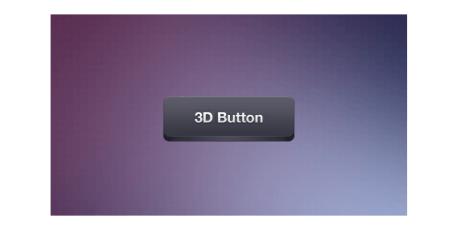 minimalist 3d psd button