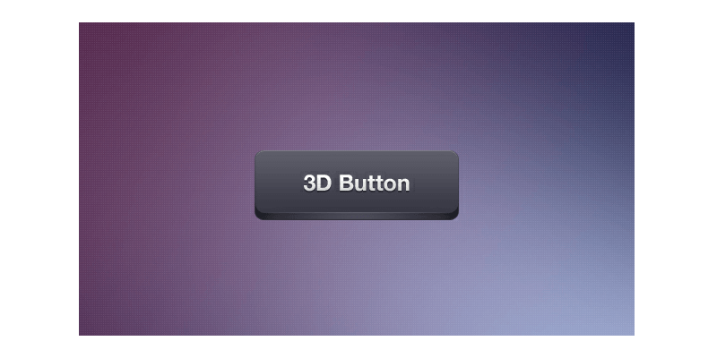 minimalist 3d psd button