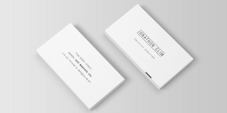 minimalistic business card mockup