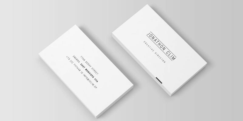 Psd business cards bypeople minimalistic business card mockup reheart Images