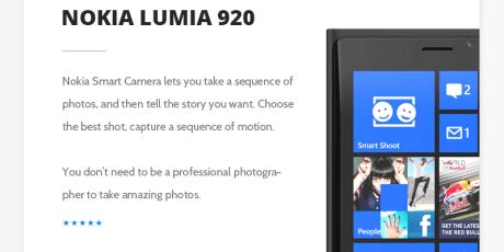 nokia lumia free psd template
