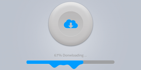 psd dripping download button