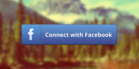 psd facebook connect button