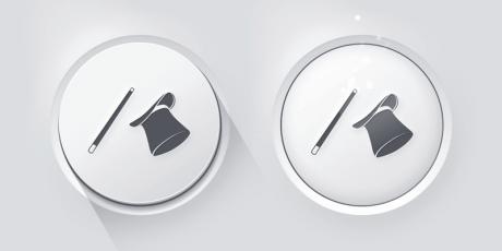 realistic gray psd button