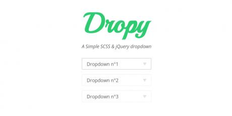 simple scss jquery drop down