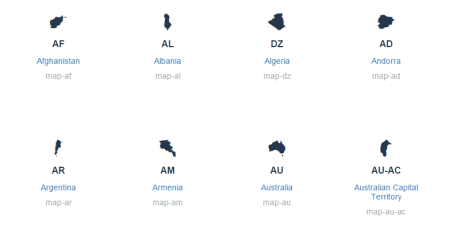 vector css maps font