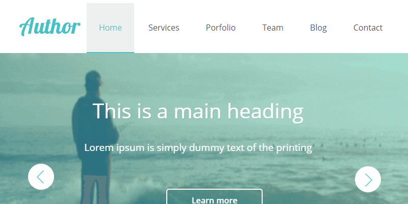 Author Flat Responsive CSS HTML Web Template Bypeople - Responsive css template