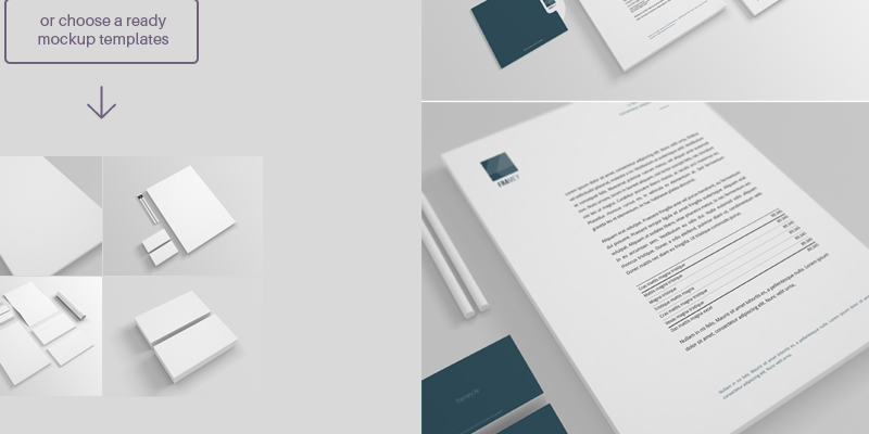 free stationery psd mockup - bypeople, Powerpoint templates