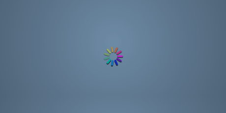colorful css loading icon