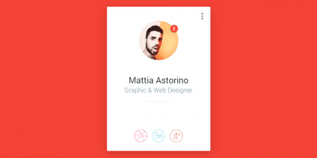 css material design profile badge