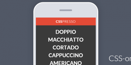 css only coffee app concept