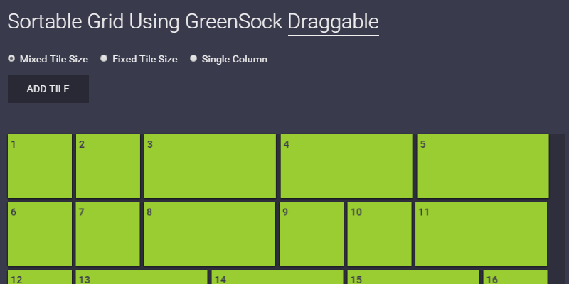 Drag & Drop Sortable Grid - ByPeople