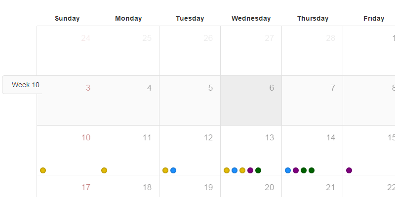 Weekly Calendar Bootstrap : Bootstrap calendar event driven js css bypeople