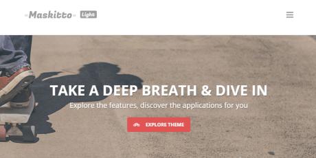 flat responsive portfolio theme