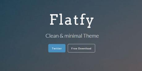 flatfy minimal html template