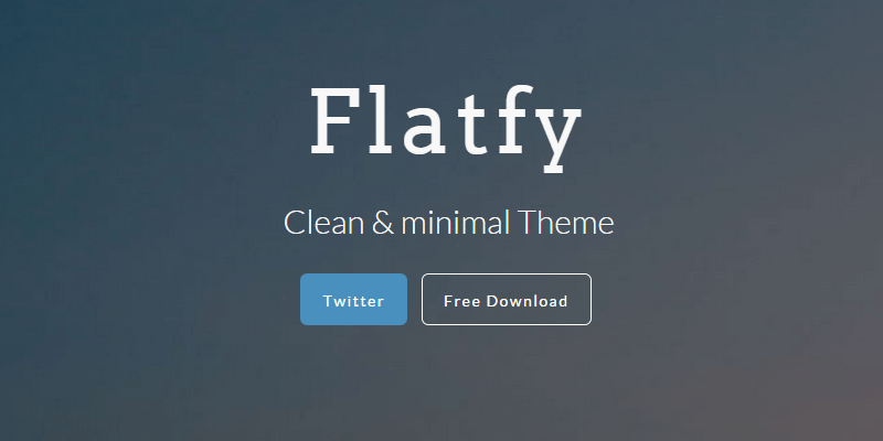 Flatfy: Minimal HTML & CSS Template | Bypeople