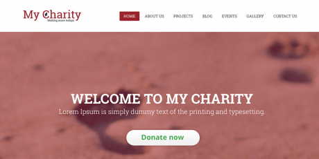 free charity website psd template
