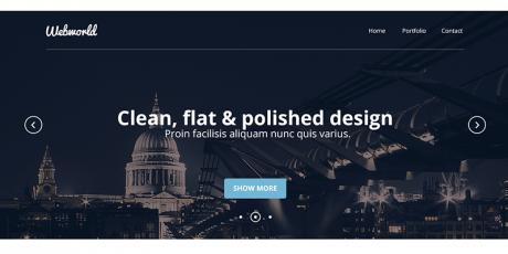 free corporate psd web design template