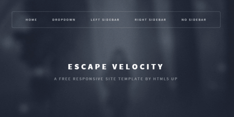free responsive html psd site template