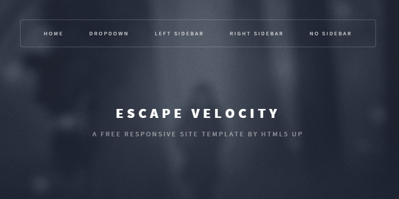 Escape Velocity: Free Responsive HTML & PSD Site Template | Bypeople
