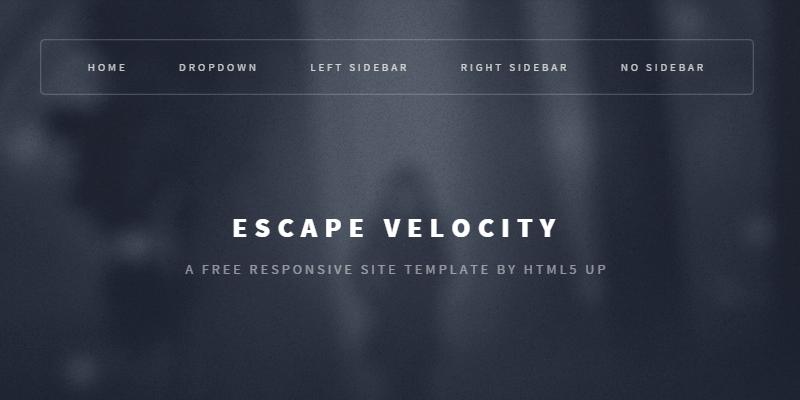 Escape Velocity: Free Responsive HTML & PSD.