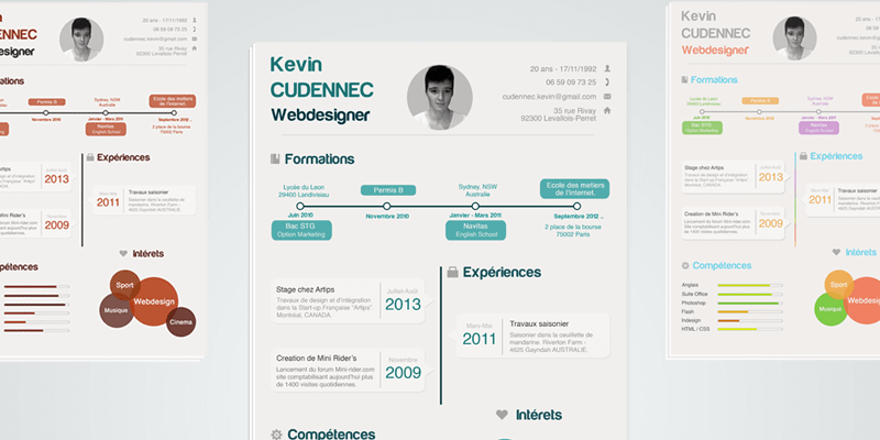 Cv templates bypeople 38 submissions infographic resume psd template yelopaper Image collections
