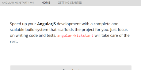 javascript development framework angular kickstart