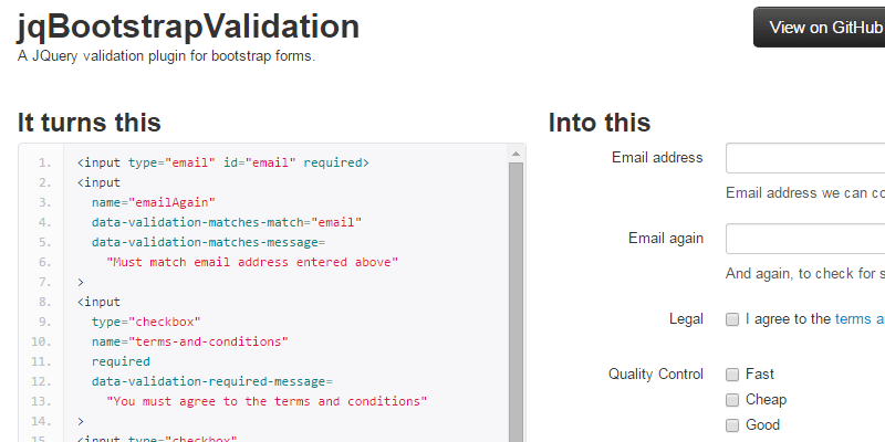 Jqbootstrapvalidation Jquery Bootstrap Form Validator Bypeople